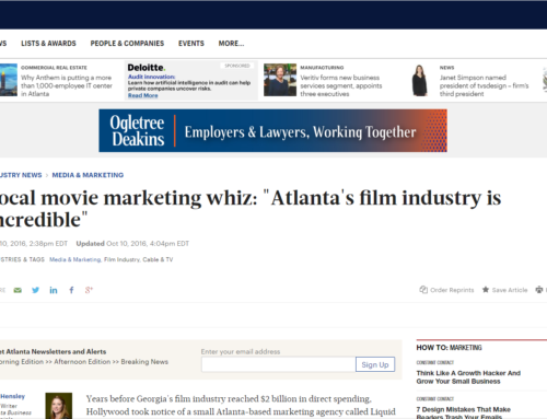 "Local movie marketing whiz: ""Atlanta's film industry is incredible"""